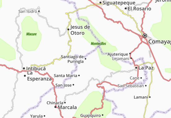Kaart Plattegrond Santiago de Puringla