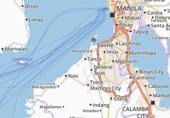 Tanza Map