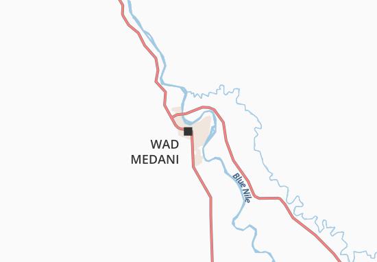 Map Of Wad Medani Michelin Wad Medani Map ViaMichelin - Wad madani map