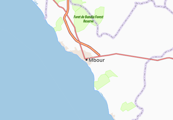 Mbour Map: Detailed maps for the city of Mbour - ViaMichelin
