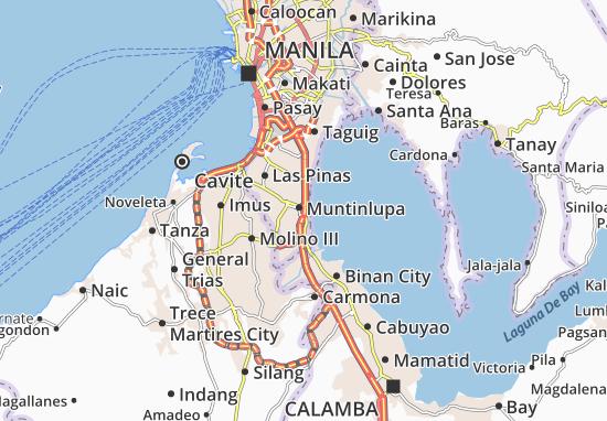 Map of Alabang  Michelin Alabang map  ViaMichelin