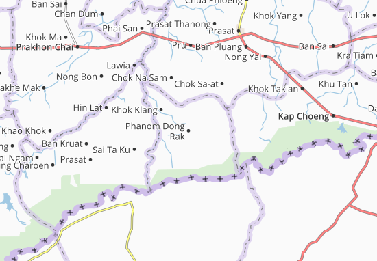 Carte-Plan Phanom Dong Rak