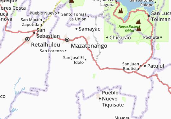Carte-Plan San José El Idolo