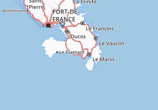 Sainte-Luce Map