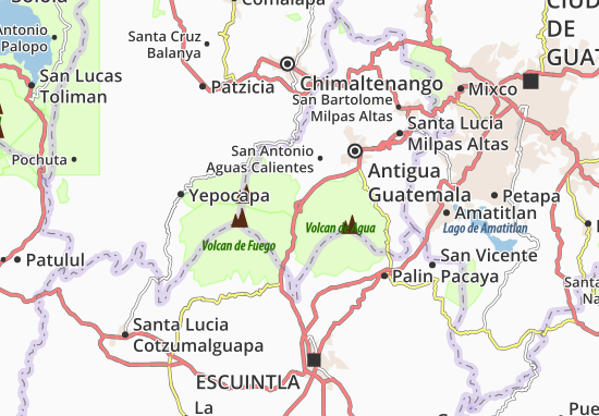 Carte-Plan Alotenango