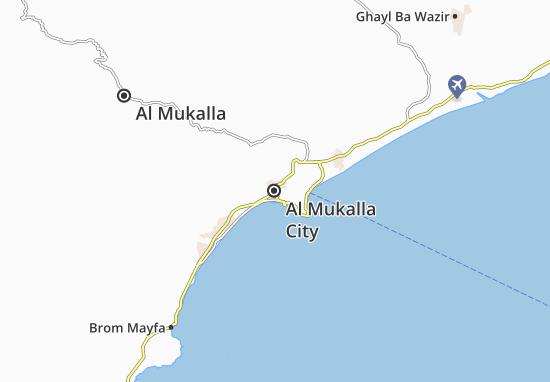 Kaart Plattegrond Al Mukalla City