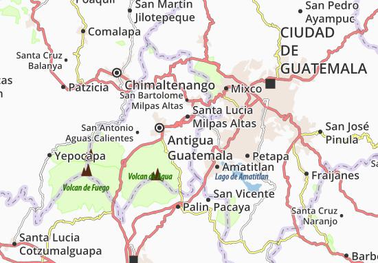 Magdalena Milpas Altas Map