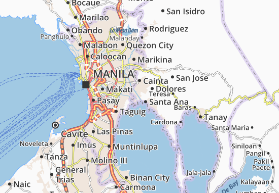 San Andres Map
