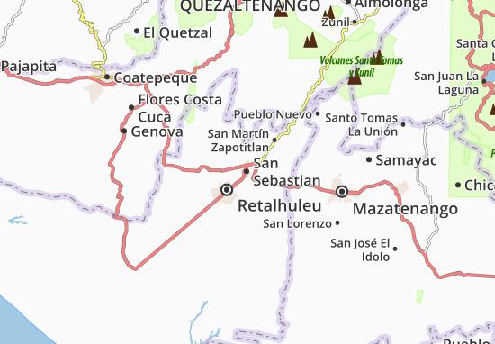 Carte-Plan San Sebastian