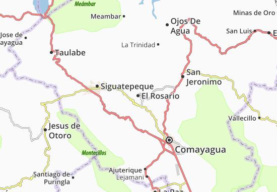 Mapa Plano El Rosario