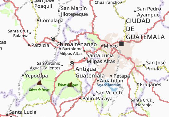 Mapas-Planos Santa Lucia Milpas Altas