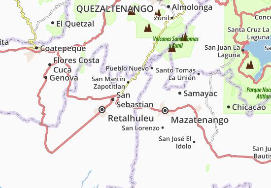 Karte Stadtplan San Andres Villa Seca