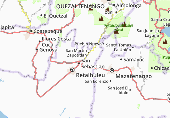 Mappe-Piantine Santa Cruz Mulua