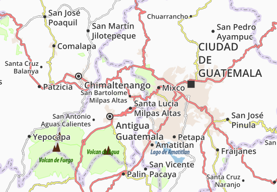 Carte-Plan San Lucas Sacatepéquez