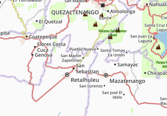 San Martín Zapotitlan Map