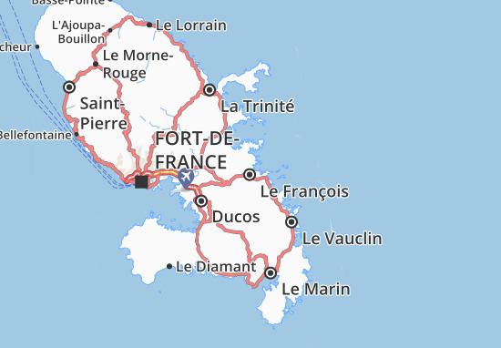 Le François Map