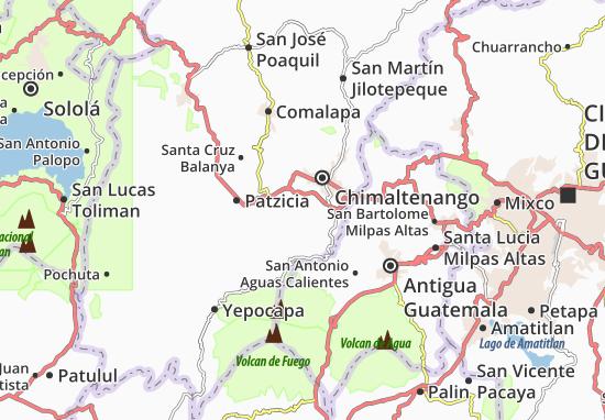 Carte-Plan San Andres Itzapa