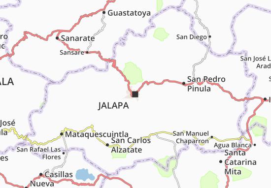 Mapa Plano Jalapa