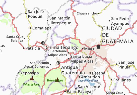 Carte-Plan Santiago Sacatepéquez
