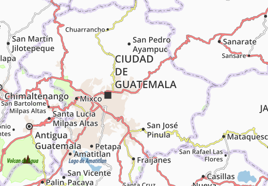 Map of Rodriguitos Michelin Rodriguitos map ViaMichelin – Tourist Attractions Map In Guatemala