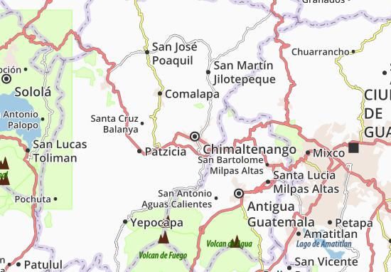 Kaart Plattegrond Chimaltenango