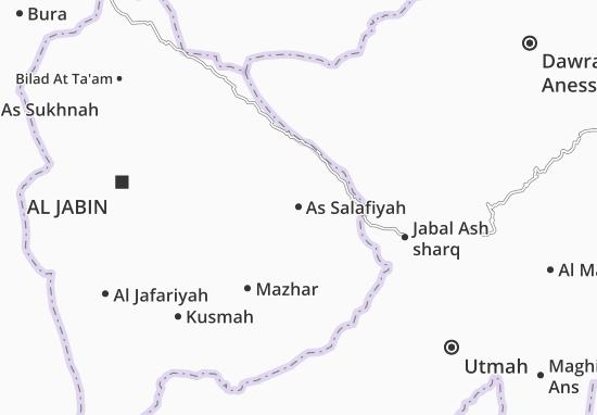 Carte-Plan As Salafiyah