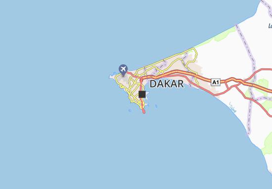 Carte-Plan Grand Dakar Zone B