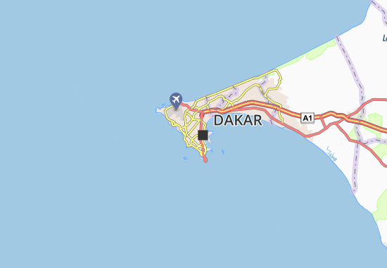 Carte-Plan Grand Dakar Zone A