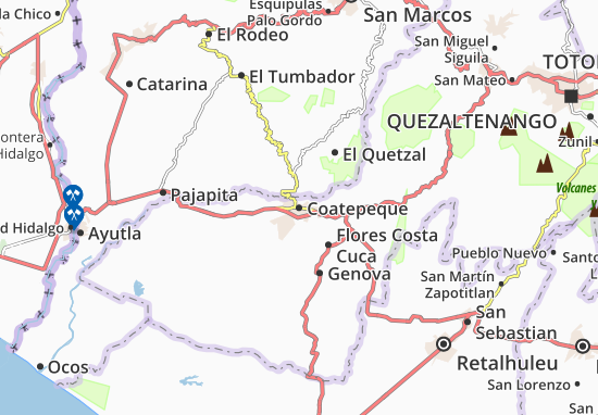 Mappe-Piantine Coatepeque