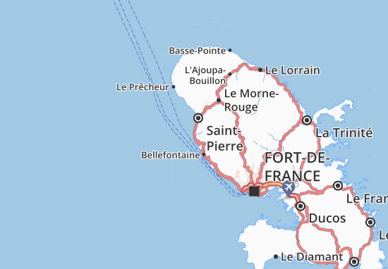 Le Carbet Map