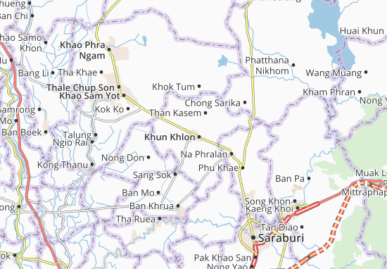 Carte-Plan Phra Phutthabat