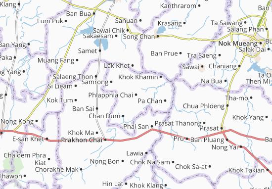 Carte-Plan Phlapphla Chai