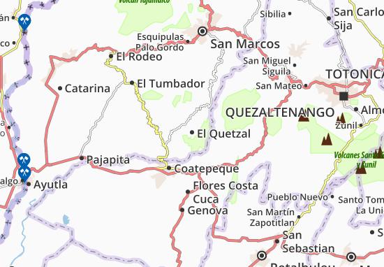 Carte-Plan El Quetzal