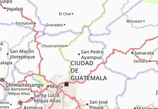 Kaart Plattegrond San Pedro Ayampuc