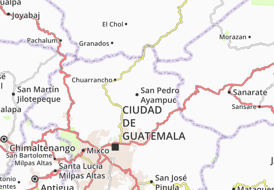 Carte-Plan San Pedro Ayampuc