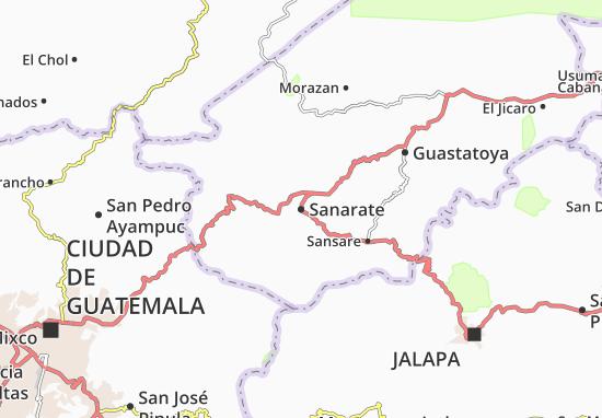 Kaart Plattegrond Sanarate