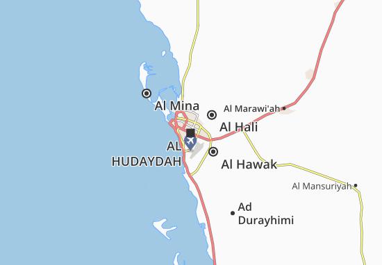 Kaart Plattegrond Al Hudaydah