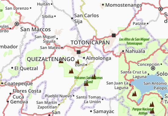 Kaart Plattegrond Almolonga