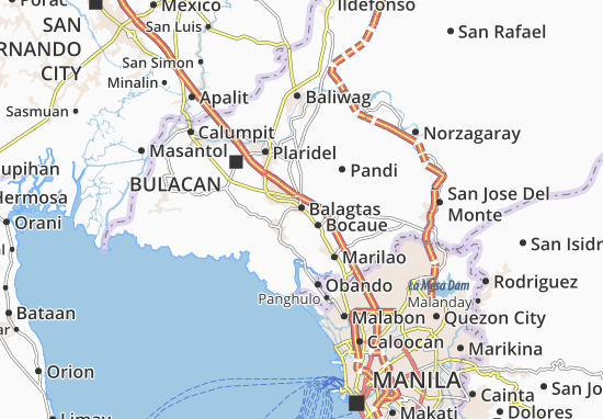 Balagtas Map Detailed maps for the city of Balagtas  ViaMichelin