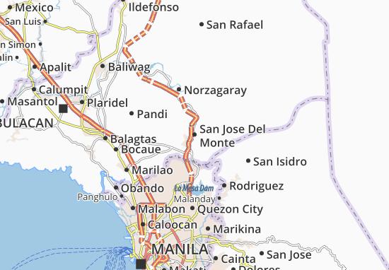 Mappe-Piantine San Jose Del Monte