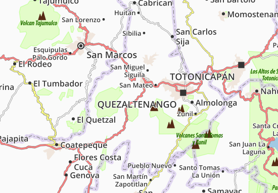 Mapa Plano San Martín Sacatepéquez
