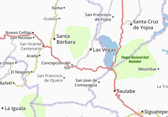 Kaart Plattegrond El Mochito