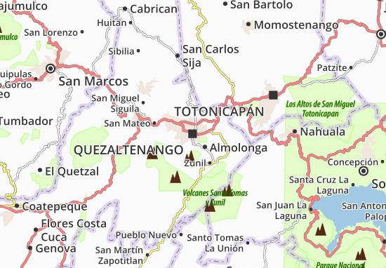 Carte-Plan Quezaltenango