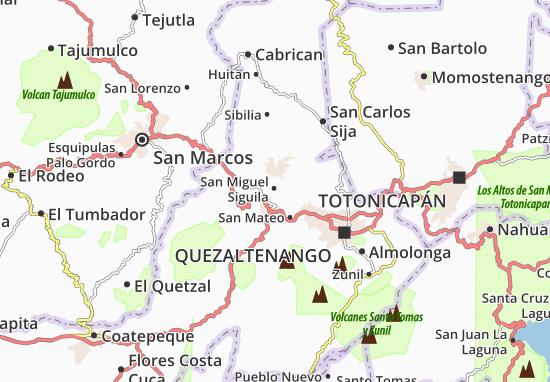 San Miguel Siguila Map