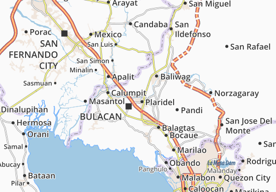Map Of Pulilan Michelin Pulilan Map ViaMichelin - Bocaue map