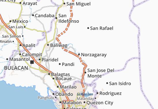 Norzagaray Map