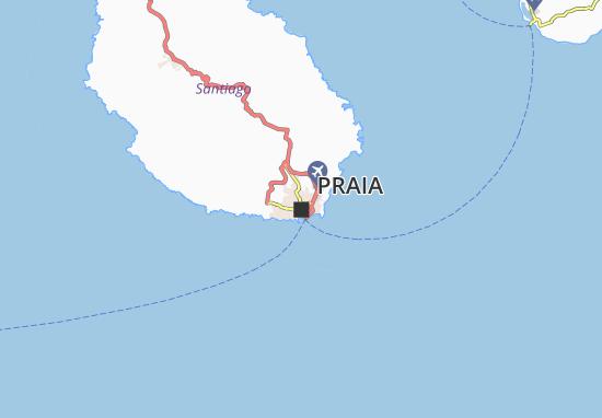 Map Of Praia Michelin Praia Map ViaMichelin - Praia map
