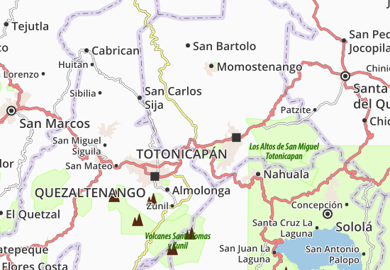 Carte-Plan San Cristobal Totonicapán
