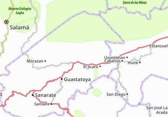 Carte-Plan San Agustan Acasaguastlan