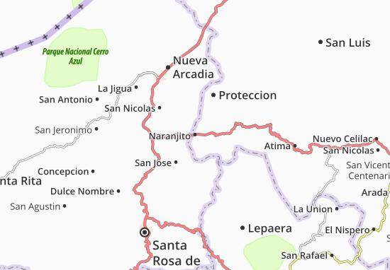 Mapa Plano Naranjito